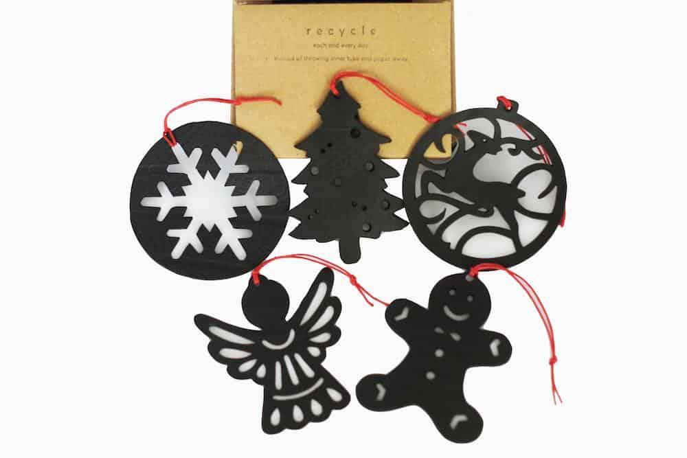 Five Christmas tree decorations