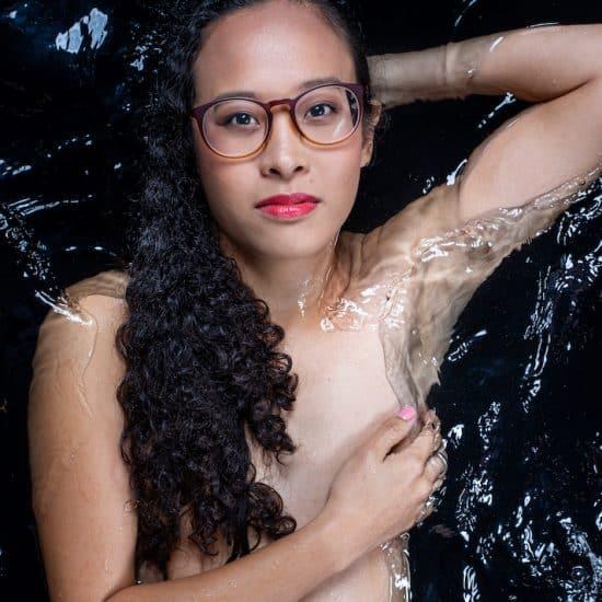 Melissa Lam in water