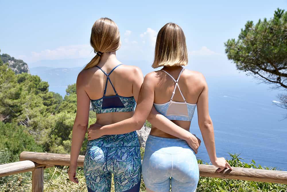 Two models wearing Hoya kerry fitness wear