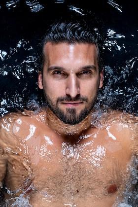 Alessandro Bisagni in water