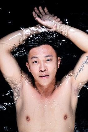 Charlz Ng in water