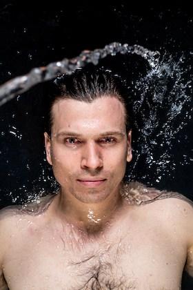 Christian Mongendre in water