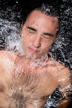 Gary Bencheghib in water