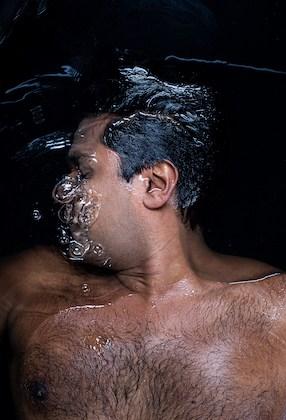 Vikas Garg in water