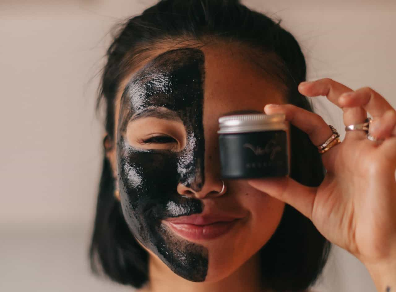 Girl with clean beauty face mask