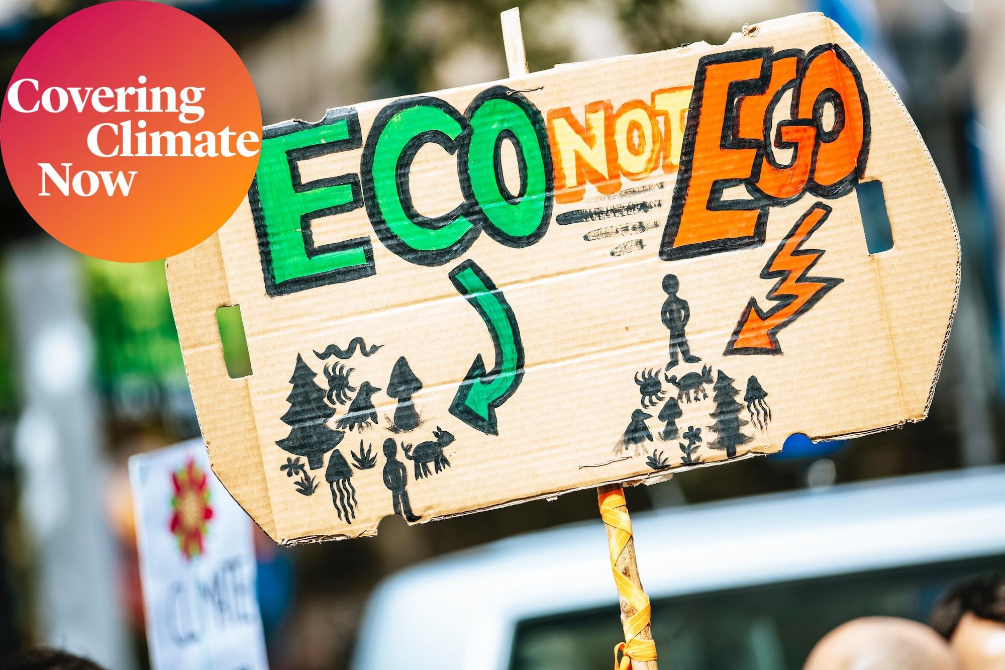 Environmental activist protest