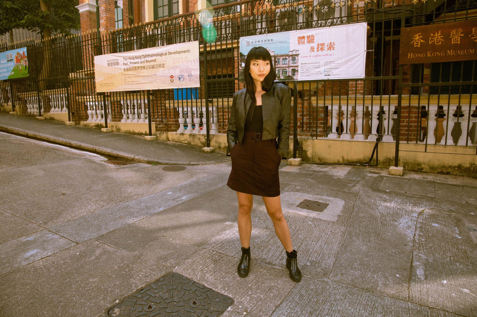 Girl wearing sustainable fashion