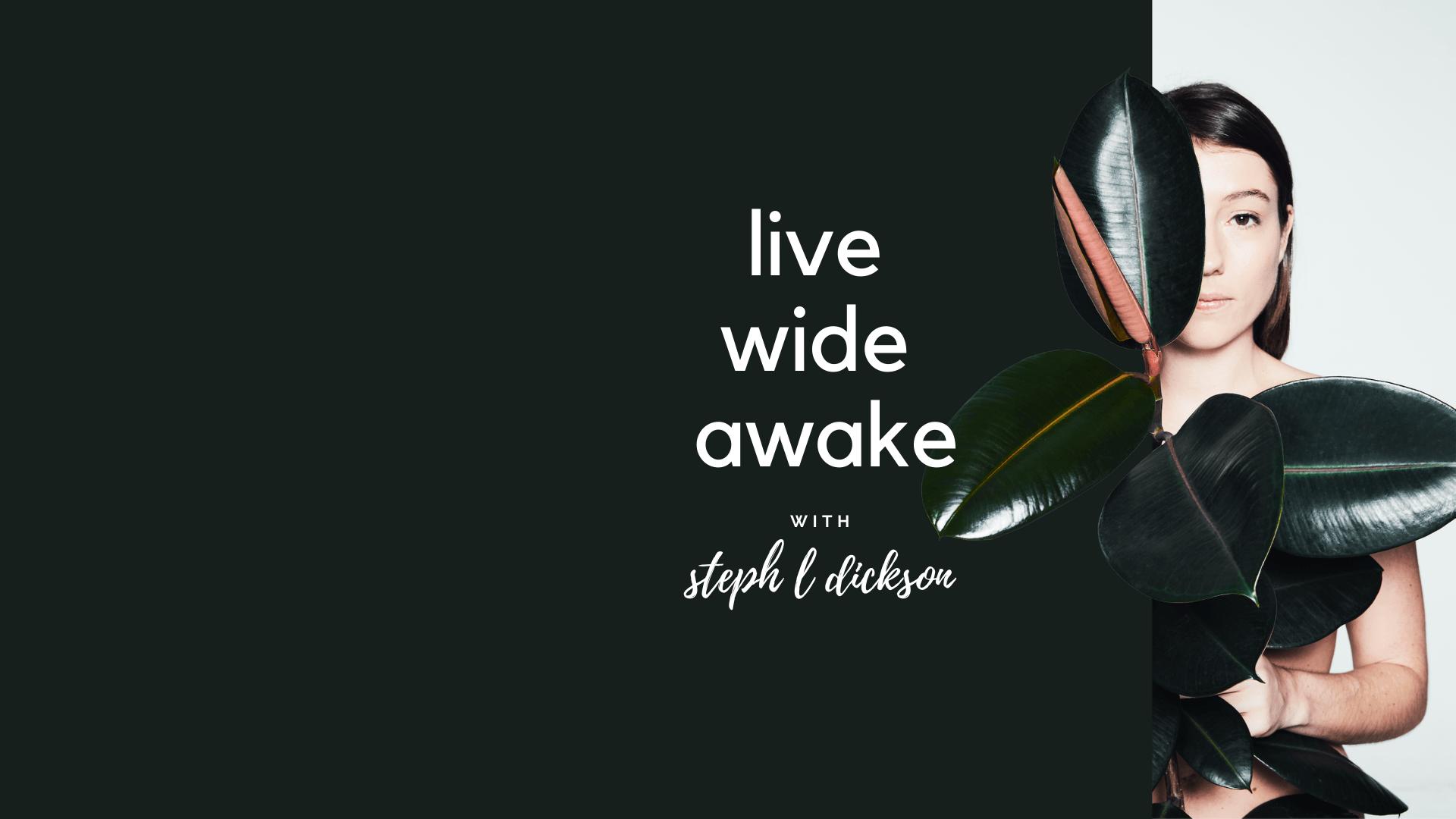 Live Wide Awake Podcast with Steph L Dickson