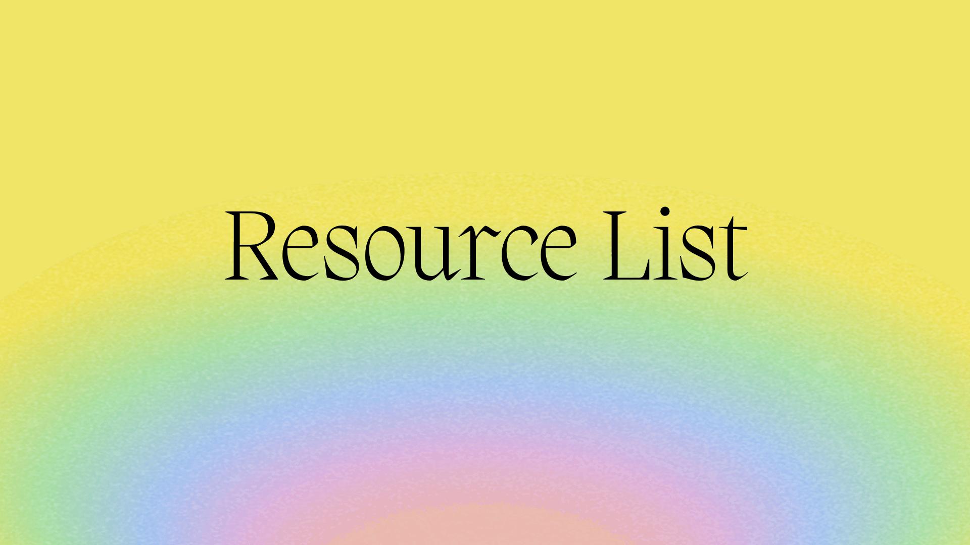 resource list