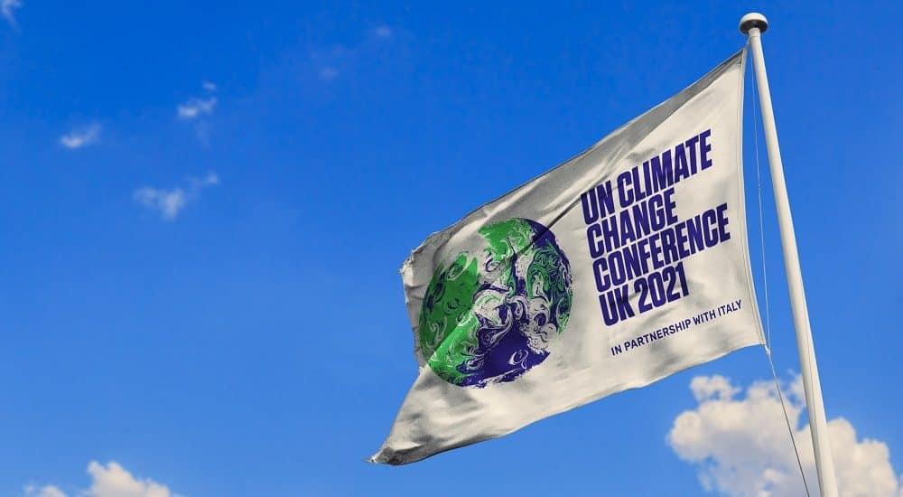 COP26 flag